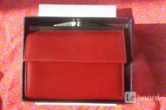 Кошелек женский новый capika италия кожа красный кожаный аксессуары женские сумки размер средний мал